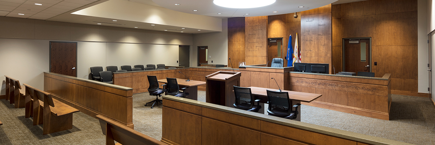 Leech Lake Justice Center & Tribal Police courtroom