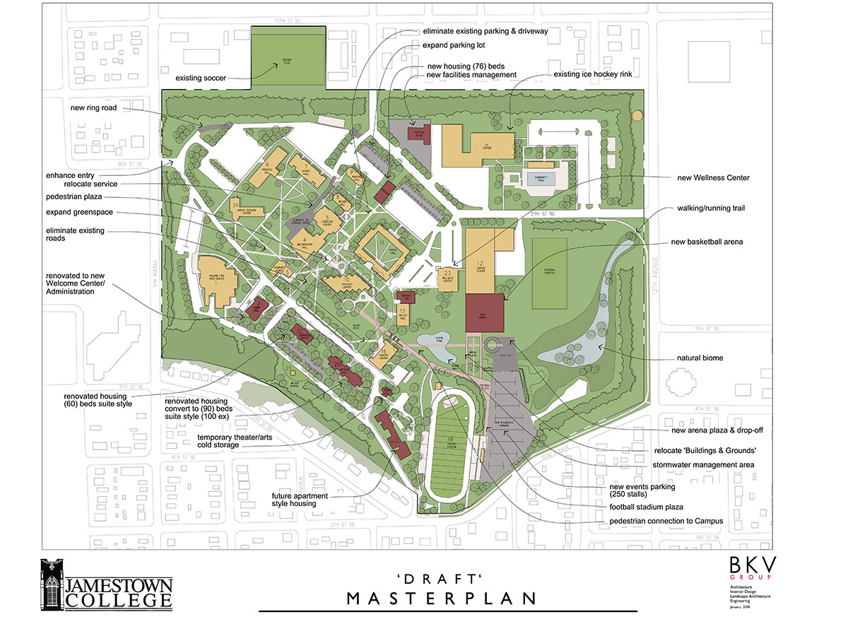 BKV Group created the Jamestown College master plan